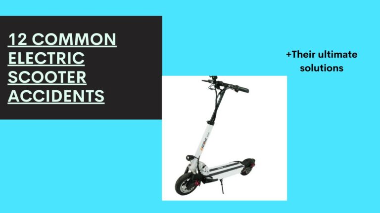 Top 12 Common Electric Scooter Accidents and How to Avoid Them
